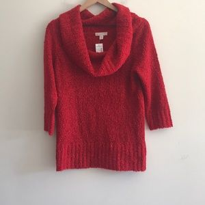 NWT Dressbarn Cowl-neck Red Sweater Size PM